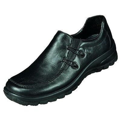 RIEKER DAMEN SLIPPER Tex Membran Schwarz Schuhe Leder L7180