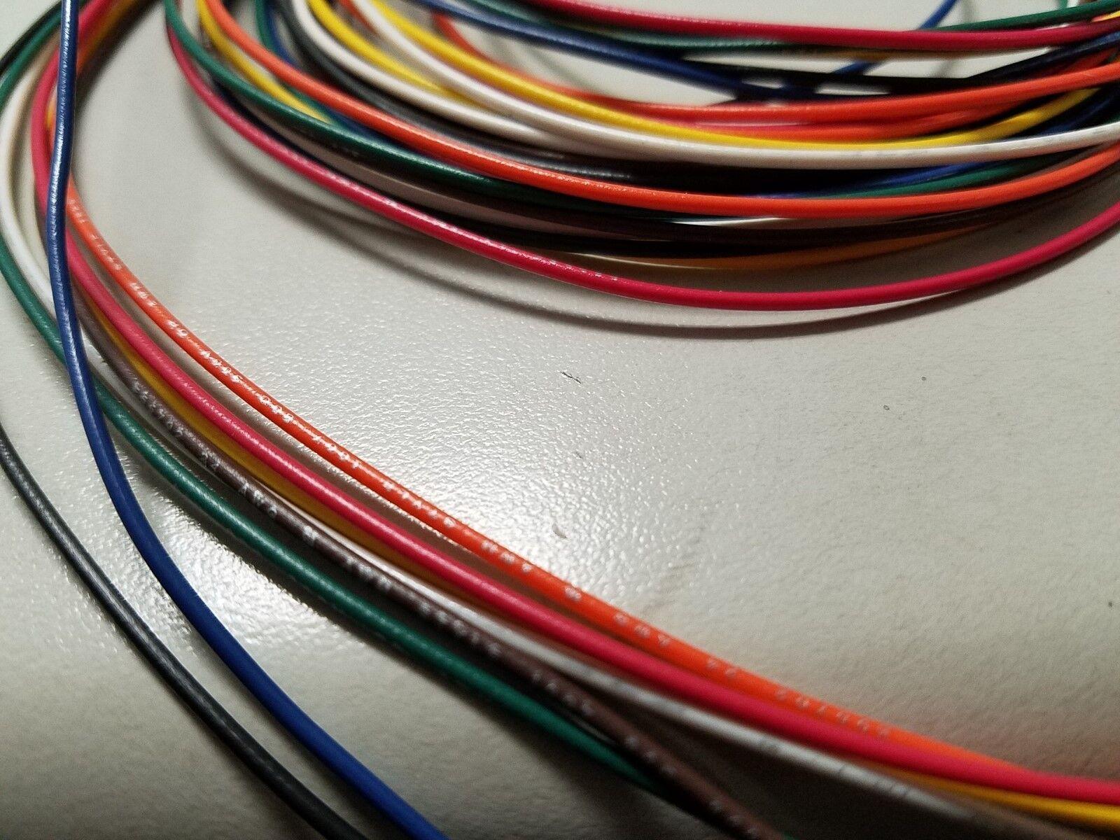 30 AWG Gauge Stranded Hook up Wire Kit 5 FT EA 8 Color Ul1007 300 ...