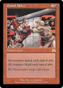 GRAND-MELEE-Onslaught-MTG-Red-Enchantment-RARE