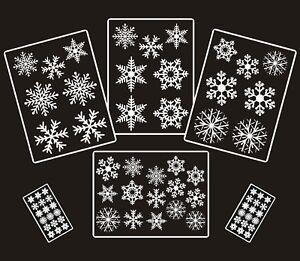 72-Bianco-Riutilizzabile-Natale-Snowflake-finestra-Adesivi-decorazioni-aggrapparsi-Decalcomania