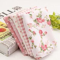 5pcs Tissu en Coton Carreaux Patchwork Coupon Fleur Assorti DIY Conture Mercerie