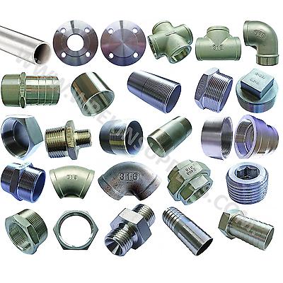 """BSP raccordi per tubi in acciaio inox 316 grado A4 150lb 1//8/"""" a 4/"""" alimentare SIGILLATO SS"""
