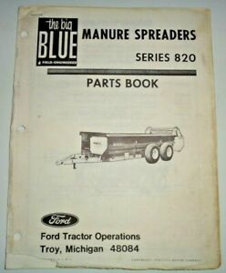 Ford Series 820 Manure Spreader Parts Catalog Manual Book 2