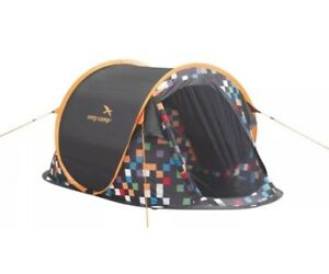 Image is loading Easy-C&-Antic-2-Person-Instant-Pop-Up-  sc 1 st  eBay & Easy Camp Antic 2 Person Instant Pop Up Festival Tent - Pixel ...