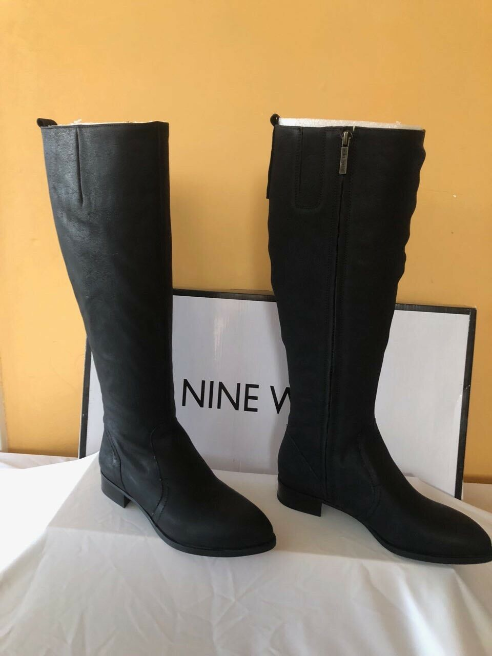 Nine West Womens Nicolah Leather Pointed Toe Knee Knee Knee High Fashion Boots Size 6.5 12ab24