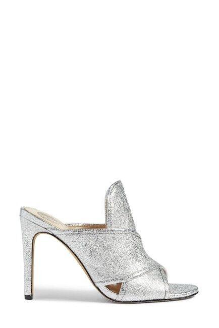 Vince Camuto Women's Kizzia Silver Heels Open Toe Shoes Size 8M US - 38 EUR
