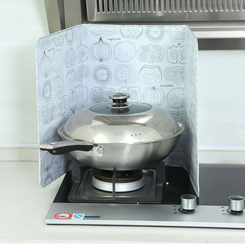 Kitchen Cover Anti Splatter Shield Guard Cooking Frying Pan Oil Splash Tools ge