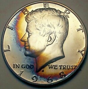 S  Silver  Gem  Proof  Kennedy  Half   Dollar   With    Free  Shipping 1968
