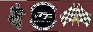 Isle of Man TT Race Triple set badges Enamel Transportation Pin Badge