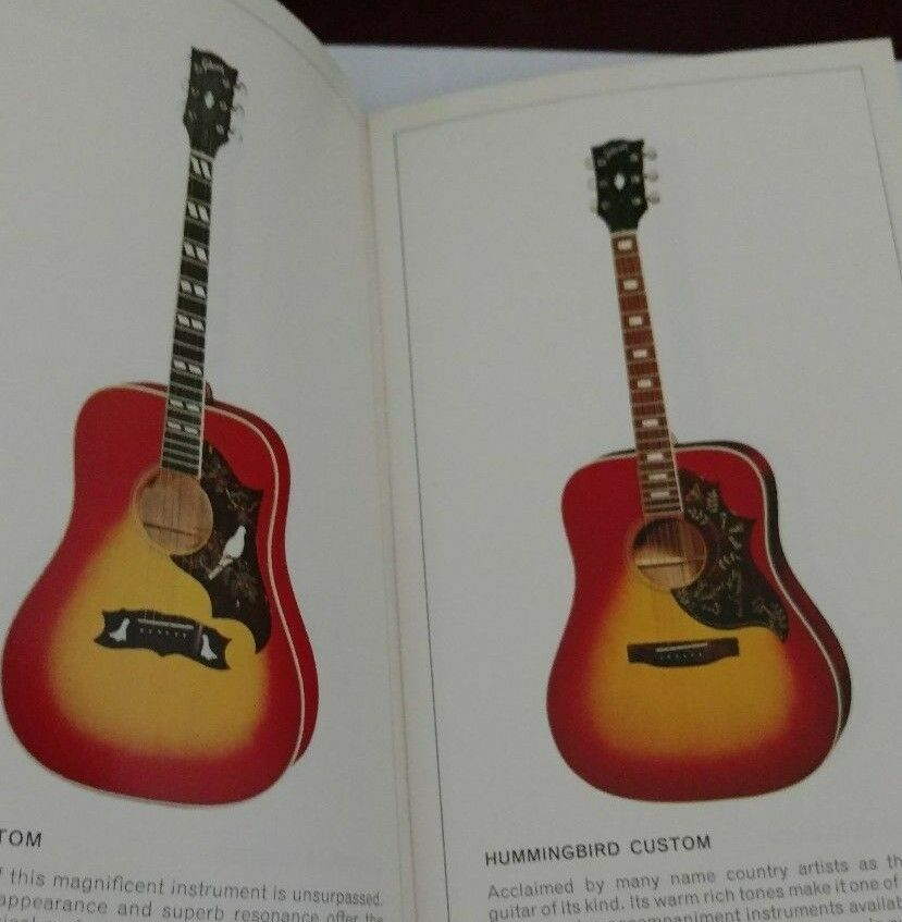 1972 GIBSON GUITAR PAMPHLET  FLATTOPS, JUMBOS, 12 STRINGS,SUPER, CASE CANDY