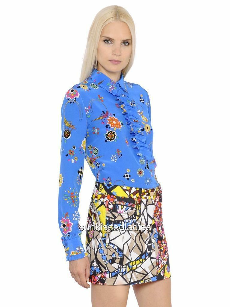 EMILIO PUCCI Print silk blouse shirt top dress IT40 New New New RRP799GP ef551c