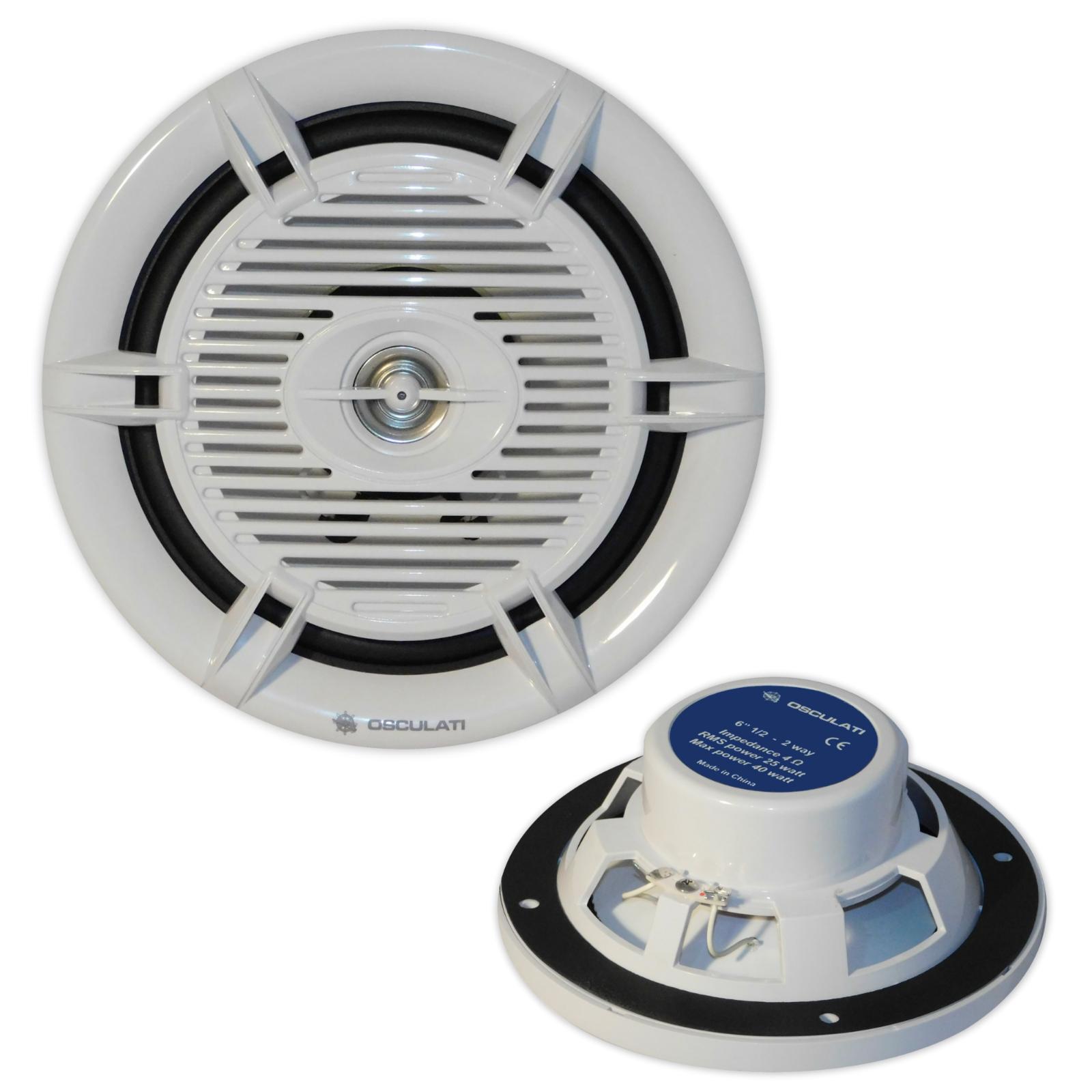 2-Wege Koax  Marine Lautsprecher Marine Boxen 16cm für tollen Klang Bad Stiefel