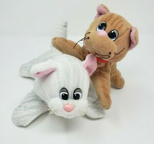 2-VINTAGE-TONKA-POUND-PURRIES-PUR-R-RIES-KITTY-CAT-CATS-STUFFED-ANIMAL-PLUSH-TOY