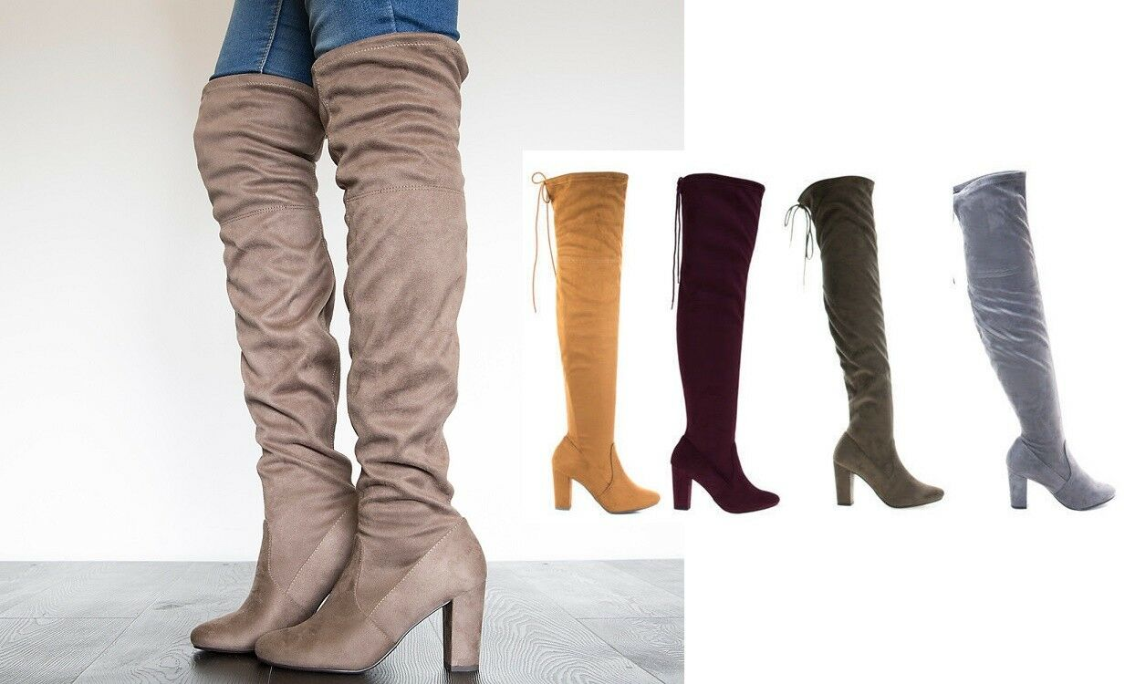 Over the Knee Thigh High Slouchy Boots  Snivy-s