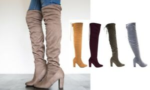 0dcfc44e6bbe2 Details about Over the Knee Thigh High Slouchy Boots #Snivy-s