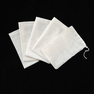 500/1000/5000 Natural Cotton Muslin Drawstring Bags Bath Soap 3x4 4x6 6x8 8x12