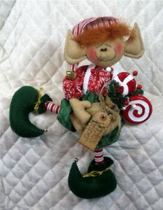 "Primitive Raggedy~""ELF CHARLIE"" 16"" Elf~PATTERN #230"