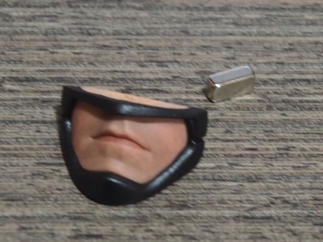 Custom 1//6 Scale Interchangeable Mouth Plate For Hot Toys BVS Armored Bat