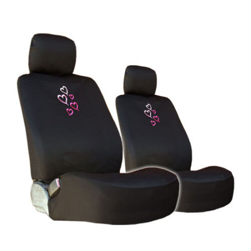 New Multi Pink Heart Car Auto Truck Seat Steering Covers Gift Set For Nissan