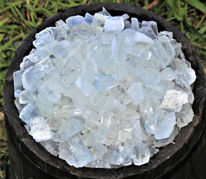 1000 Carat Lot Rough Clear Ice Calcite (Raw Gemstone Crystal Healing 200 Grams)