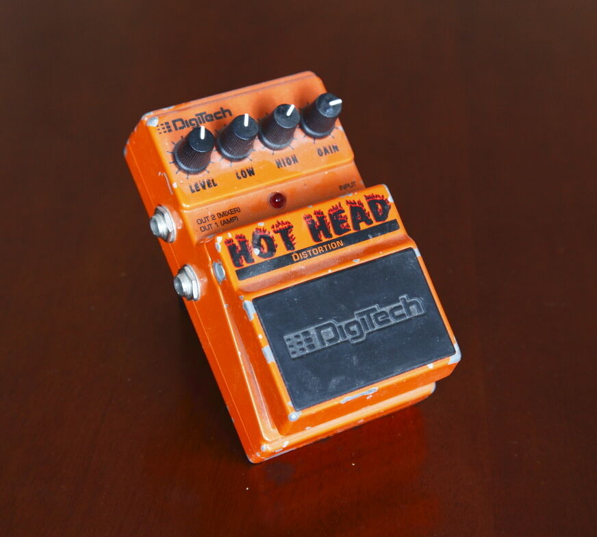 Digitech Hot Head Distortion Effect Pedal --  Great drive distortion effect --
