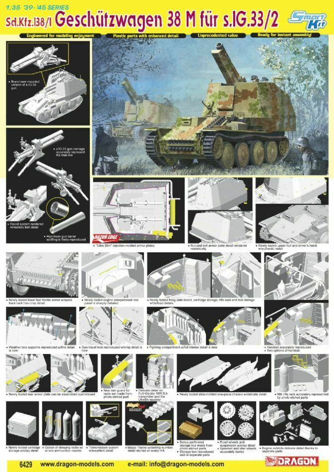 Dragon 6429  135 WWII Td. Sdkfz 1381 autoro di Pistola 38M per Sig 332  Neu