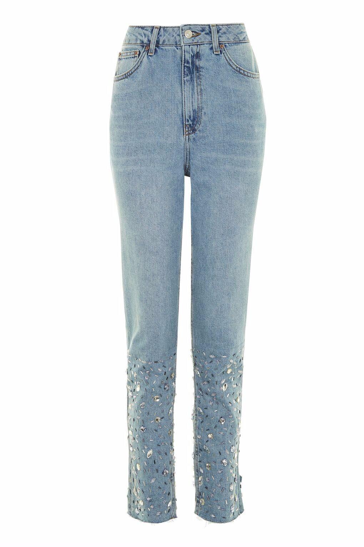 Topshop MOTO Gemstone Hem MOM Jeans rrp 59 size 28 34