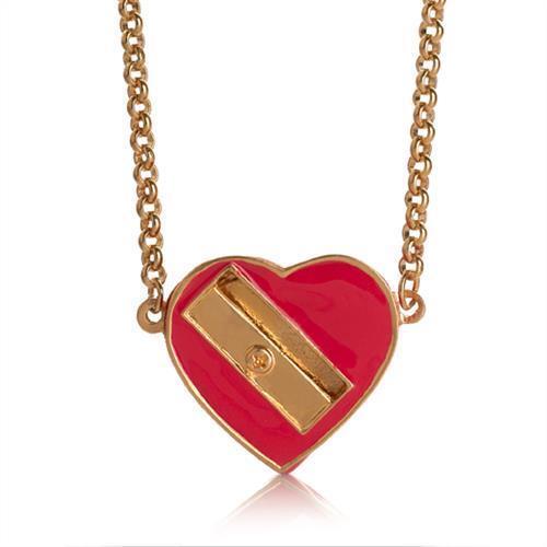 Me /& Zena Halskette PENCIL SHARPENER gold-red