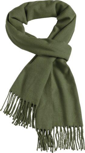 Webschal Damen Winterschal einfarbig Fransenschal Feinstrick Neverless®