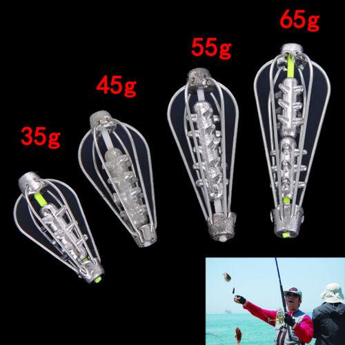 Carp Catfish Feeder Fishing Accessories 35g,45g,55g,65g Fishing Bait Cage S6