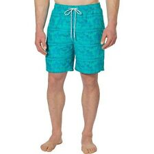 Kirkland Signature Men's Swim Shorts Teal Floral US Size XXL **NEW**