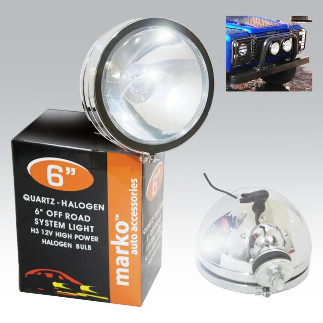 """2 x 6"""" Chrome Halogen Spotlights Universal Foglight Car Van Fog Spot Light"""