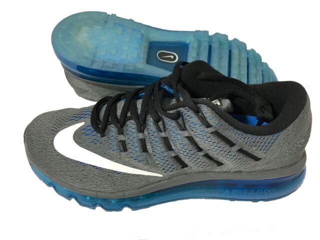 the latest 10a25 133d4 Nike Air Max 2016 Grey Blue Mens Cushion Running Shoes 360 806771 ...