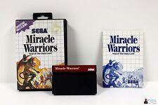 ★ SEGA Master System - MIRACLE WARRIORS: Seal of the Dark Lord - Komplett OVP ★