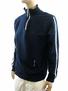 energie-felpa-uomo-blu-zip-cotone-manica-lunga-taglia-xl-extra-large-maglione