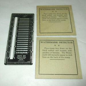 Vintage White Ace Postage Stamp Perforation Gauge & Stamp Watermark Detector
