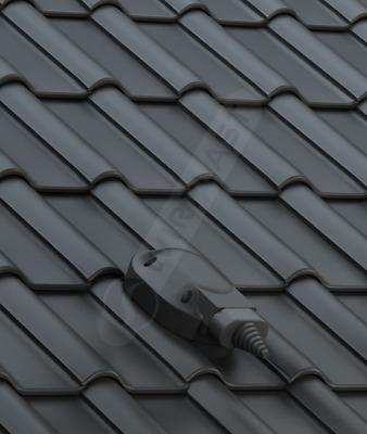 anthrazit-matt /– engobiert Fleck PVC Solardurchgang 50//70 mm f/ür Braas RUBIN 13 V