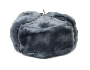 90e1f96ab76 Authentic Russian Military Gray Ushanka Hat Faux Fur Made in Russia ...