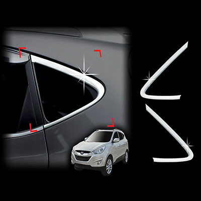 Chrome Window Sill C Pillar Molding Trim Cover 2p For 10-14 Hyundai Tucson ix35