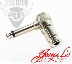 NEW-George-L-039-s-225-Master-Series-Right-Angle-Guitar-Plug-Nickel-Plated