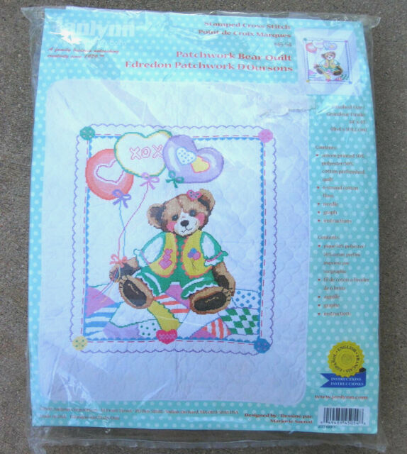 """Janlynn Baby SWEET AS A CUPCAKE Stamped Cross Stitch Baby Quilt Kit 34/"""" x 43/"""""""