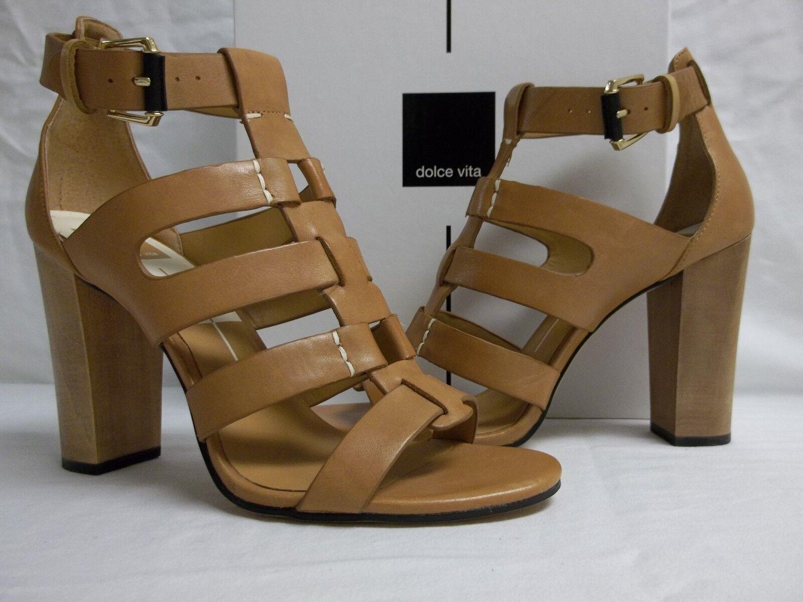 Dolce Vita Größe 9.5 M Caramel Leder Open Toe Heels NEU Damenschuhe Schuhes