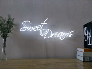 New Sweet Dreams Neon Sign For Bedroom Wall Home Decor Artwork With Dimmer by Ebay Seller