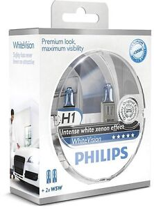 2-AMPOULES-H1-PHILIPS-WHITEVISION-XENON-EFFECT-PEUGEOT-407-806