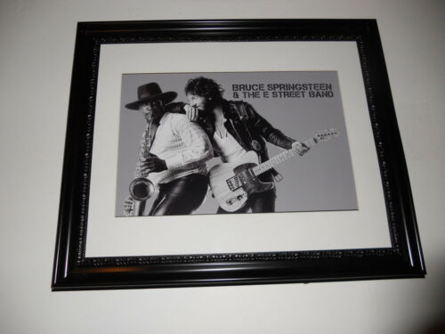 """Large Framed Bruce Springsteen Born to Run Clarence Clemons Poster 24"""" by 20"""""""