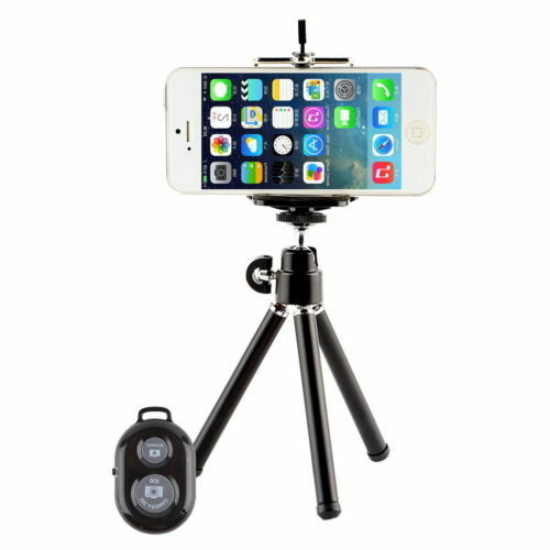 new products 6a0b3 1aa59 Camera Tripod Stand Holder Bluetooth Shutter Remote for iPhone 4 5 6s 7 8  plus X