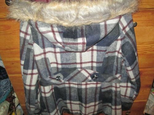 Hooded Størrelse Dollhouse Faux Sort New With Brand Ladies Tag Outwear grå L Fur t6wZdcgq