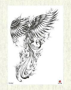 Boho Angel Wing Large 8 25 Temporary Arm Flower Wristband Tattoos Ebay