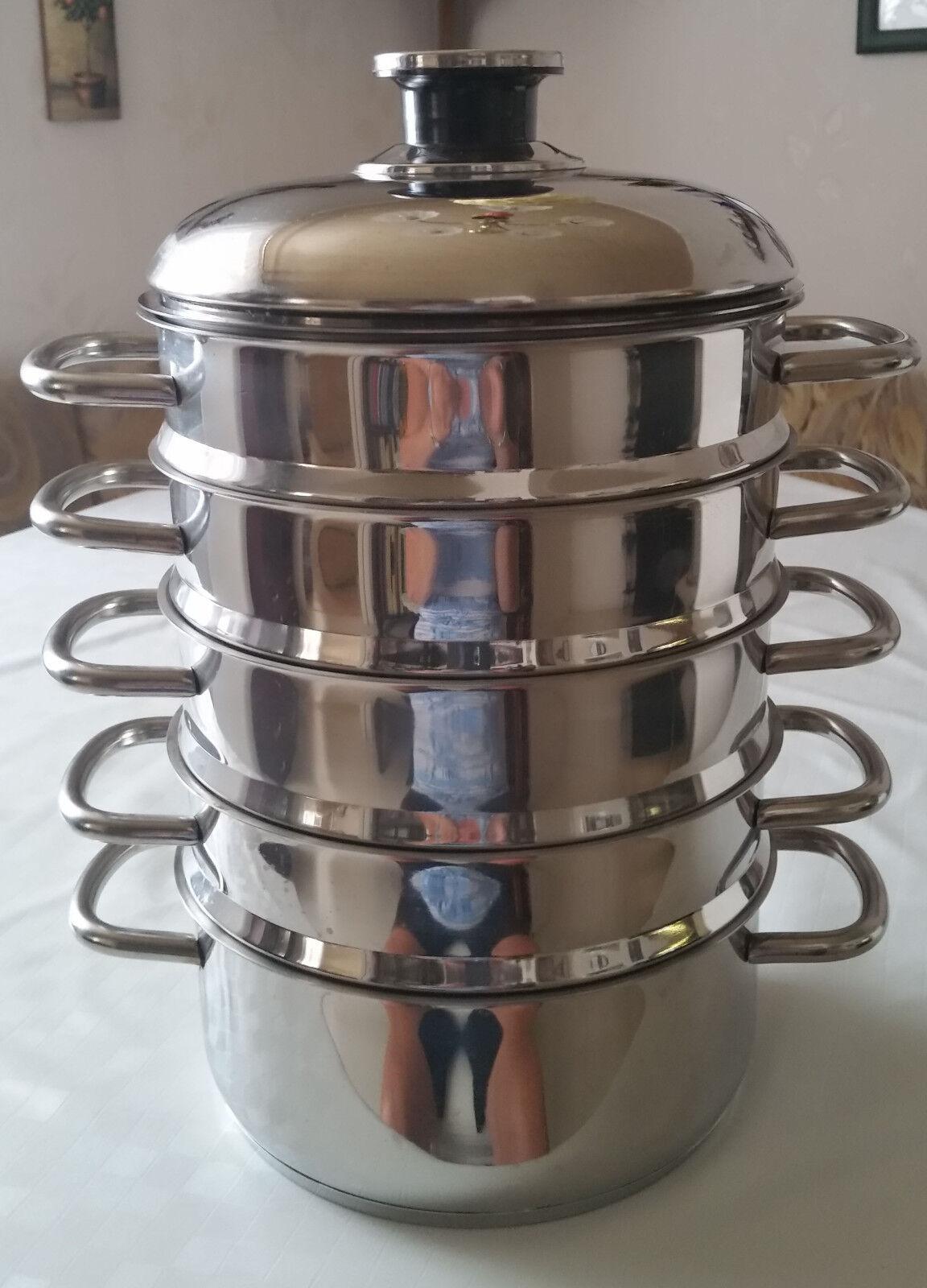 Kochsystem   8-teilig aus 18 10 Edelstahl