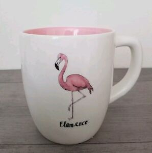 NEW RAE DUNN by MAGENTA FLAMENCO Pink Flamingo Mug Home Kitchen Dining Decor